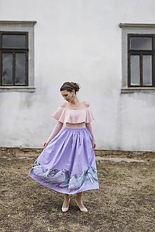 Sukne - Fialová maľovaná sukňa Pod Tatrarami - 10599043_