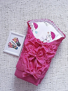 Textil - Ružová perinka so sloníkmi - 10597330_