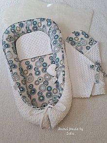 Textil - Hniezdo  z bielej minky / 100% bavlna - 10596881_