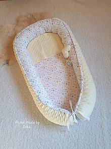 Textil - XL  Hniezdo pre bábätko : žltá minky + 100% bavlna - - 10598384_