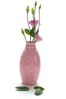Dekorácie - Ružová baňatá vázička - 10596150_