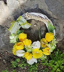 Dekorácie - spomienkový jarný veniec na hrob - 10597544_