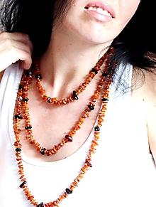 Náhrdelníky - Baltský Jantár náhrdelník 200 cm - 10598000_