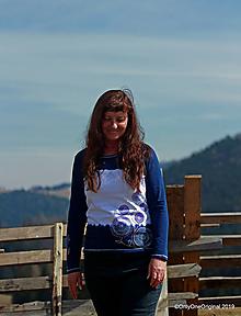 Tričká - Dámske tričko batikované, maľované, etno ČAKANIE - 10597581_