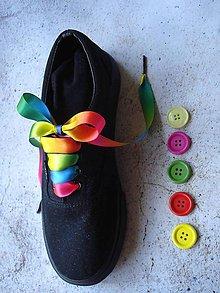 Obuv - Šnúrky do topánok - farebné so strieb.koncovkou - 10596170_