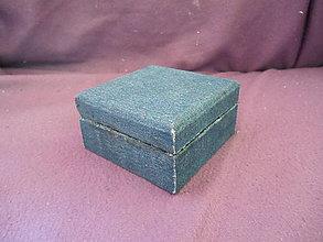 Krabičky - drevenná šperkovnička pokrytá džínovinou - 10595977_