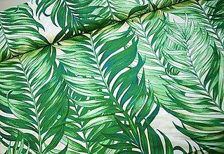 Textil - Bavlnená látka - listy zelené - veľký vzor - 10596534_