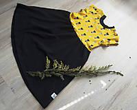 Detské oblečenie - PUPU šaty - mačičky (bio bavlna) - 10595608_