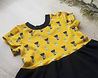 Detské oblečenie - PUPU šaty - mačičky (bio bavlna) - 10595609_