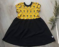 Detské oblečenie - PUPU šaty - mačičky (bio bavlna) - 10595610_