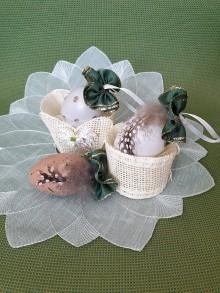 Dekorácie - Veľkonočné vajíčko (pierkové) - 10597359_