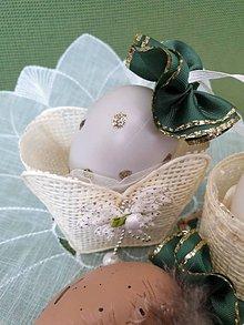 Dekorácie - Veľkonočné vajíčko (zlaté) - 10597372_