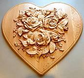 Drevorezba Rozkvitnuté srdce