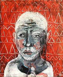 Obrazy - zasnený portret - 10596596_