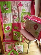 Úžitkový textil - Motýle a kvety - 10595602_