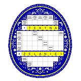 Grafika - Krížovkové vajíčko FOLK s tajničkou na želanie - 10594956_