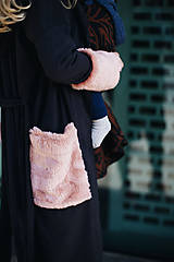 Kabáty - Nosičský kardigan Black Swan - 10598990_
