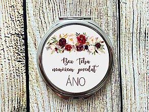 Zrkadielka - Bez teba nemôžem povedať ÁNO burgundy - 10598901_