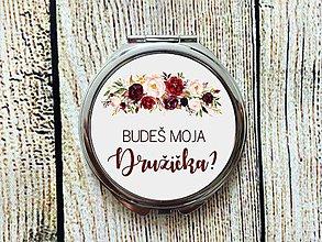 Zrkadielka - Budeš moja družička? Burgundy - 10598918_