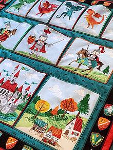 "Textil - Závesný panel ""Dragons"" s vreckami - 10598864_"