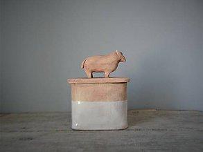 Nádoby - dózička s ovečkou natur - 10596962_