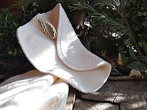 Úžitkový textil - Kozmetický tampón maxi bio - 10594914_