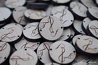 Iný materiál - Drevená etiketa s logom - 10595801_