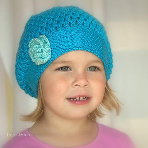 Úžasná ~ návod na háčkovanú baretku