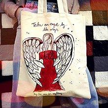 Nákupné tašky - Nákupná taška- anjel - 10595543_