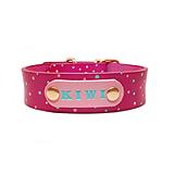 Pre zvieratká - Ružový obojok s tyrkysovými a ružovými bodkami - 10595498_