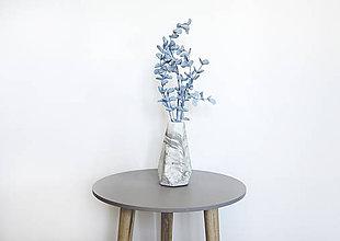Dekorácie - Betónová váza Flores Marble (Čierno-biela) - 10596211_