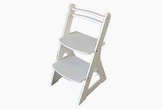 Nábytok - Rastúca stolička FAIR I - biela - 10598883_