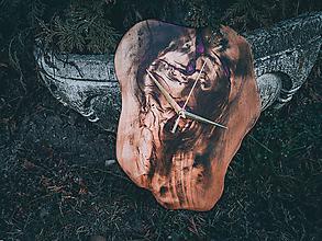 Hodiny - RAW Resin - Topoľové drevené hodiny - 10596517_