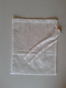 Úžitkový textil - Superľahké vrecúško na ovocie a zeleninu (Veľké so stužkou (30 x 36 cm)) - 10596806_