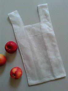 Úžitkový textil - Superľahké vrecúško na ovocie a zeleninu (Veľké s dvomi uškami (21 x 32 cm)) - 10596809_