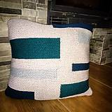 Úžitkový textil - Ručne pletený poťah na vankúš - 10597540_