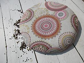 Úžitkový textil - okrúhly pohánkový podsedák - 10596374_
