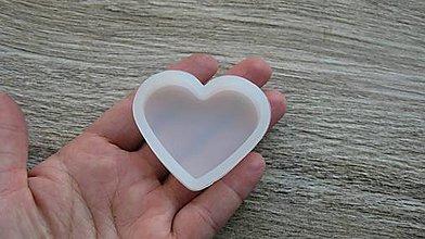 Pomôcky/Nástroje - Silikónová forma srdce, 6x5 cm, 1 ks - 10597961_