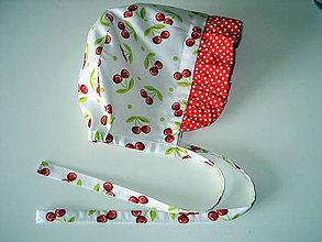 Detské čiapky - čepček čerešničky - 10596226_