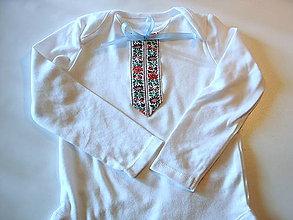 Detské oblečenie - body s folk stuhou - 10596815_
