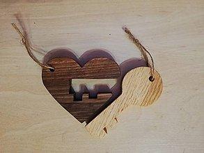 Kľúčenky - Kľúč od tvojho srdca - 10597398_