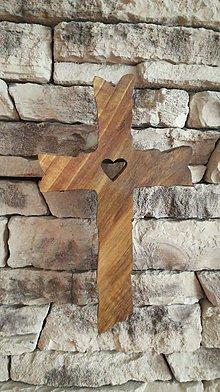 Drobnosti - Drevený kríž - 10598478_
