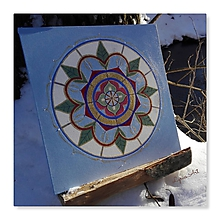 Obrazy - Mandala pre jemný dotyk vášne - 10598141_