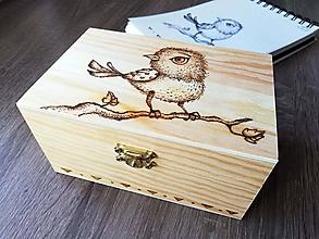 Krabičky - Box z prírodného dreva - Štebotavý - 10597500_
