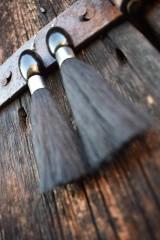 Náušnice - Čierne strapce - 10597174_