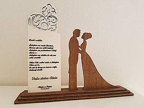 Dekorácie - Svadobné poďakovanie rodičom - 10595419_
