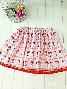 Detské oblečenie - DETSKÁ SUKŇA / DETSKÁ SUKNIČKA s vtáčikmi - 10596398_