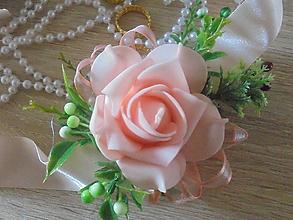 Náramky - Svadobný náramok-marhuľková ruža - 10597109_