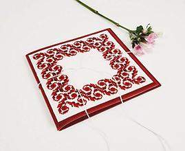 Papiernictvo - Z veľkej lásky - luxusná folk vyšívaná obálka - 10595154_