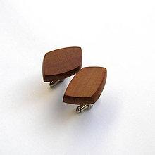 Šperky - Drevené manžetové gombíky  - slivkové kúsky - 10598332_